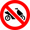 ban, motorbike, motorcycle, no, prohibited, transport icon