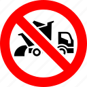 ban, dump, lorry, prohibited, transport, truck, vehicle
