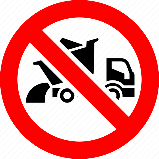 ban, dump, lorry, prohibited, transport, truck, vehicle icon