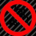 ban, forklift, loader, no, prohibited, transport, vehicle