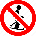 ban, no, prohibition, sign, skiing, sport icon