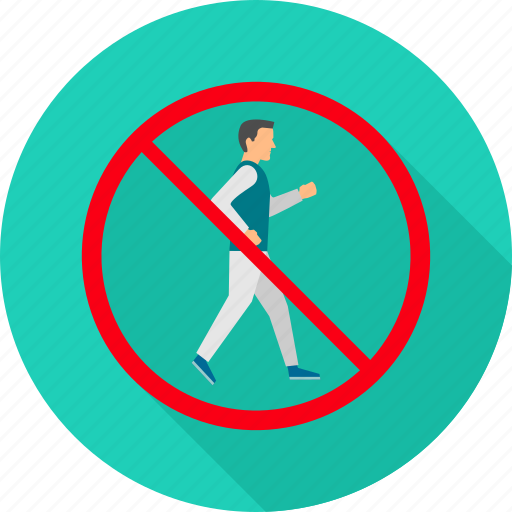 cross, no crossing, prohibit, prohibited, sign, walk, warning icon