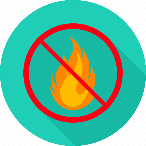 danger, dont fire, fire, no camp fire, no fire, prohibit, prohibited icon
