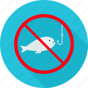 avoid, fish, nonveg, prohibit, prohibited, trap, warning icon