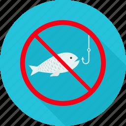 avoid, fish, nonveg, prohibit, prohibited, trap, warning icon