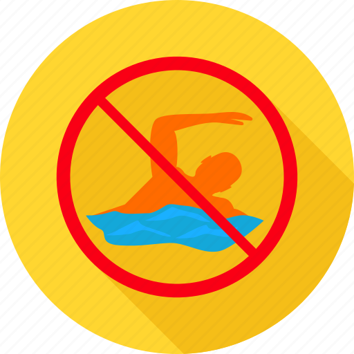 man, prohibit, prohibited, sign, swim, swimming, warning icon
