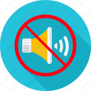 denied, music, no, no noise, prohibit, prohibited, sound icon