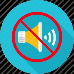 denied, music, no, no noise, prohibit, prohibited, sound icon