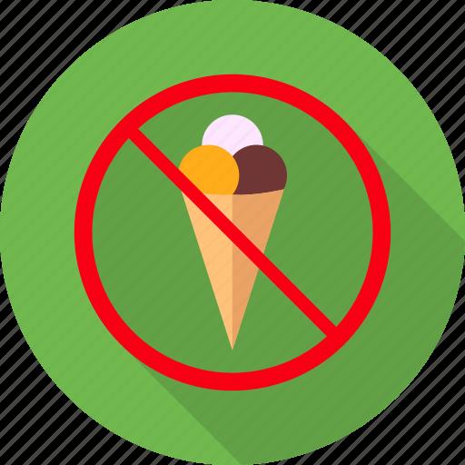 avoid, eat, eating, icecream, no icecream, warning icon