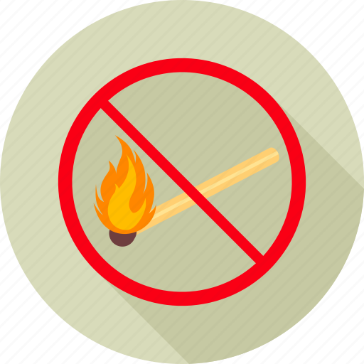 alert, danger, fire, no fire, prohibit, prohibited, warning icon