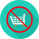 avoid, cart, no, prohibited, shop, shopping, warning icon