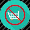 prohibited, shop, shopping, avoid, cart, no, warning