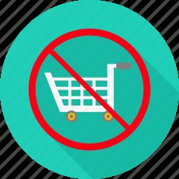 avoid, cart, no, prohibited, shop, shopping, warning icon