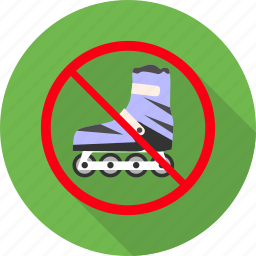 no, prohibited, scate, scates, scating, sign, warning icon