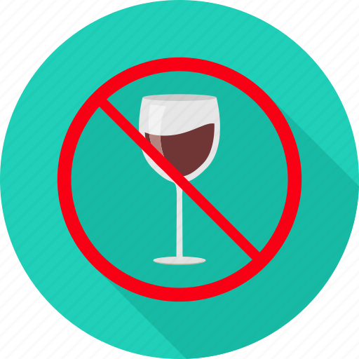 alchohal, denied, drink, drinking, no drinking, prohibited, sign icon