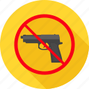 alert, attention, danger, gun, pistol, prohibited, revolver icon