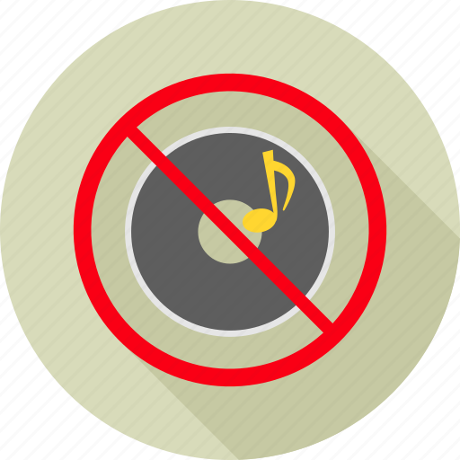 ban, denied, no music, noise, prohibit, prohibited, songs icon