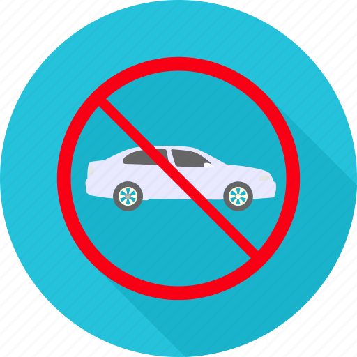 car, denied, entry, entry is prohibited, no entry, prohibited, sign icon