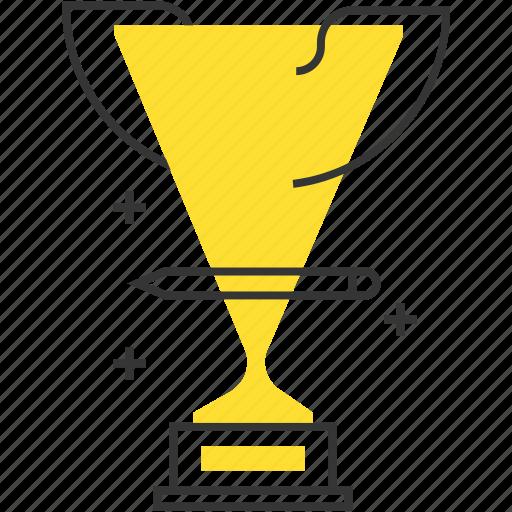 cup, pen, price, winner icon
