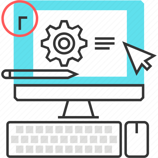 computer, cursor, office, time, work hours icon