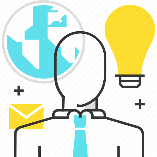 cloud, freelance, globe, idea, outsource icon