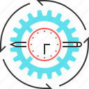 cog, gear, pen, pencil icon