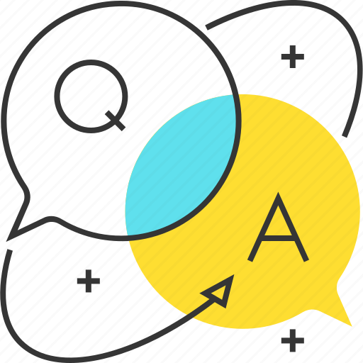 answers, chat, dialogue, questions icon