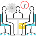 company, meeting, office, workers icon