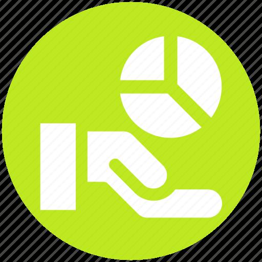 Analysis, chart, hand, market, pie, pie chart icon - Download on Iconfinder