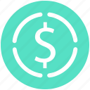 currency, dollar, dollar sign, money, sign icon