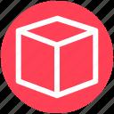 box, cardboard box, carton, delivery box, package, parcel icon