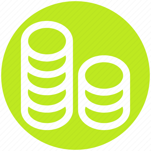 bank, banking, business, coins, marketing icon