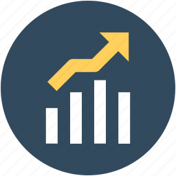 bar chart, business growth, graph, growth chart, progress chart icon
