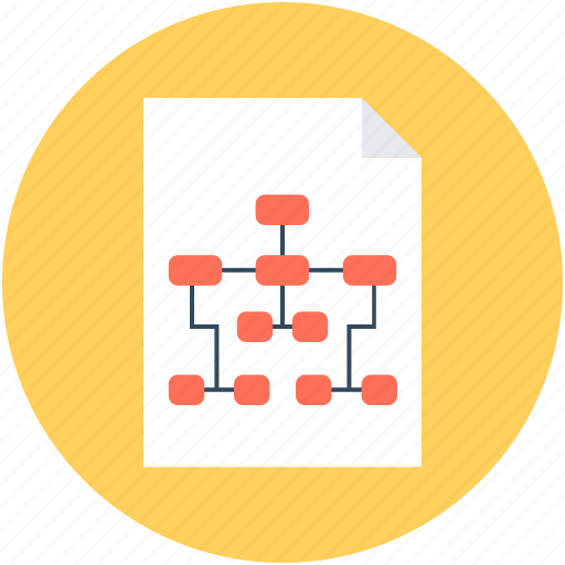 hierarchical network, hierarchy, network, sharing network, sitemap, sitemap paper icon