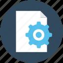 file preferences, processing file, file, file setting, gear