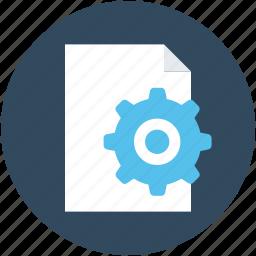 file, file preferences, file setting, gear, processing file icon