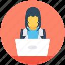 female, freelancer, lecture, presentation, public speaker