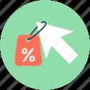 click, cursor, discount label, discount offer, discount tag