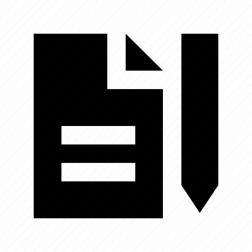 edit document, edit file, editor, file, pencil icon