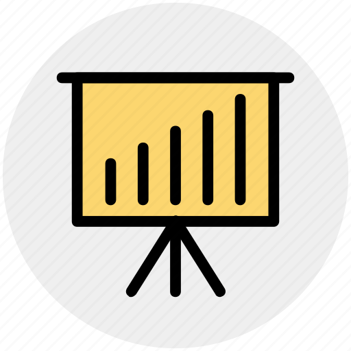 Business graph, business presentation, graph, graph board, graph presentation, presentation board icon - Download on Iconfinder