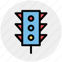 light, traffic, traffic light, transport, transportation icon