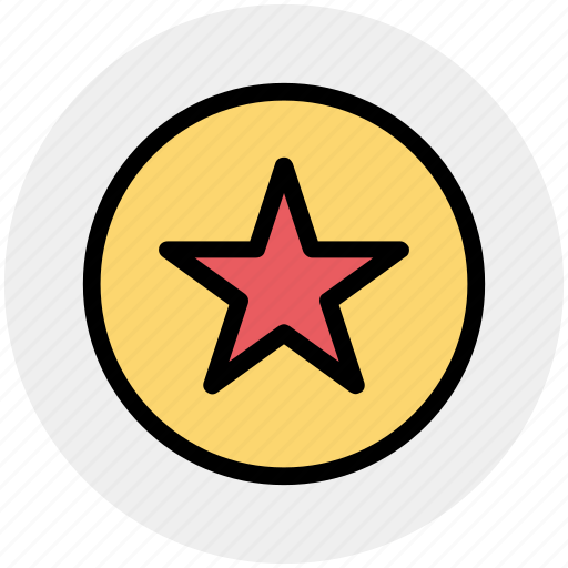 Rating, star, favorite, award, one star, book mark icon