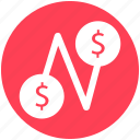 coins, connection, current, dollar, fund, money icon