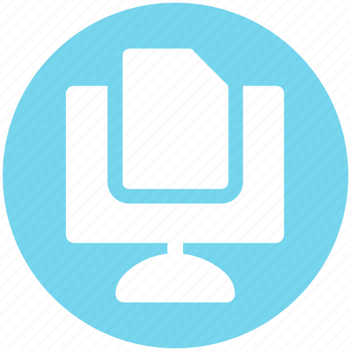 Computer sheet, doc, paper, print, screen page icon - Download on Iconfinder