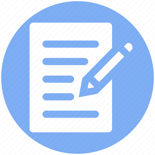 document, file, page, pen, sheet, text icon