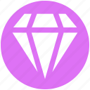 brilliant, crystal, diamond, gem, jewelry, value icon
