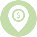 dollar, dollar navigation, gps, location, location pin, navigation