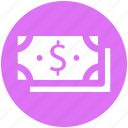 business, cash, dollars, money, payment, revenue icon