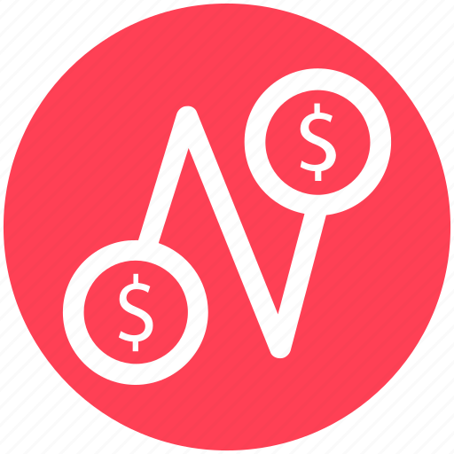 Coins, connection, current, dollar, fund, money icon - Download on Iconfinder