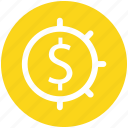 currency, dollar, graph, money icon